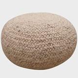 Pouf en laine tresée  - 80 cm Ø  5