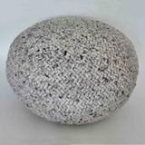 Pouf en laine tresée  - 80 cm Ø  2