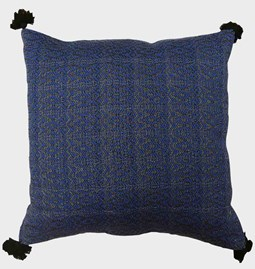 Cushion cover in deep blue