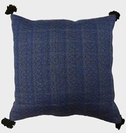 Housse de coussin bleu marine