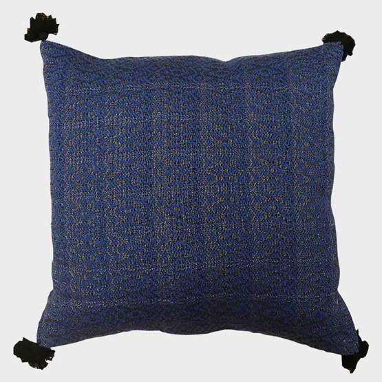 Housse de coussin bleu marine - Design : ART TISSAGE TAM