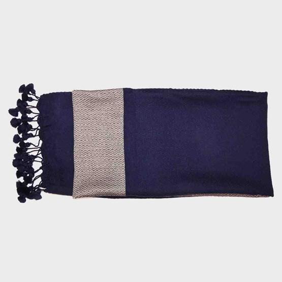 Crocheted finish fouta - Design : ART TISSAGE TAM