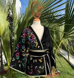 Kimono AMA Design embroidered