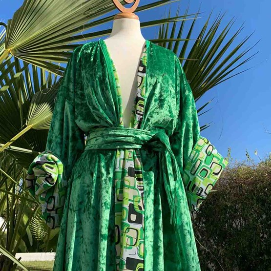 Kimono AMA Design Vert - Design : AMA Design