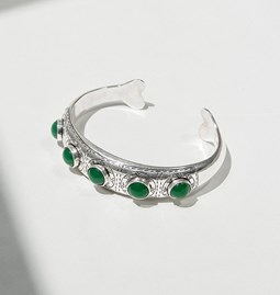 Bracelet jonc mint tea