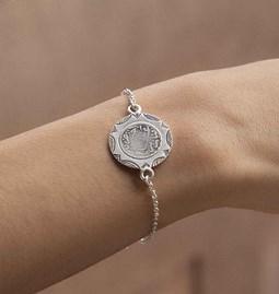 Bracelet gourmette Coin