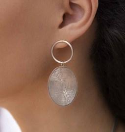 Boucles d'oreilles grey half spirals