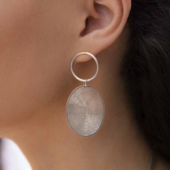 Boucles d'oreilles grey half spirals - Design : YELLI JEWELS
