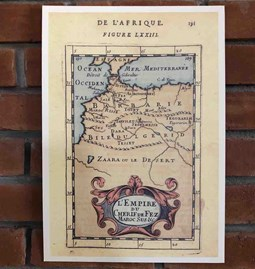Old map from Morocco 1683