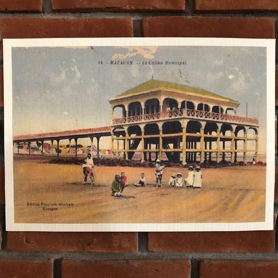Photo ancienne du casino Mazagan El Jadida 1930  - Design : THE VINTAGE FACTORY