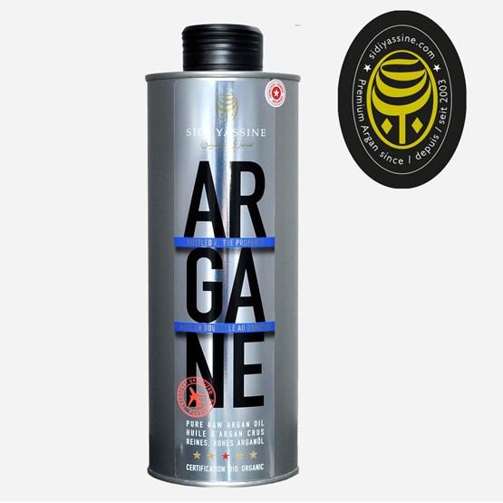 Huile d'Argan Cosmétique bidon 500 ml - Design : SIDI YASSINE