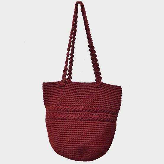 Filet shopping rouge Hermes - Design : COOPERATIVE ART TISSAGE TAM