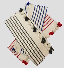 Striped bathmat