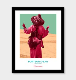Poster Pop Art Vintage - Water carrier of Marrakech