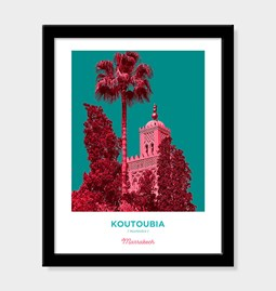 Poster Pop Art Vintage - Koutoubia of Marrakech - 2
