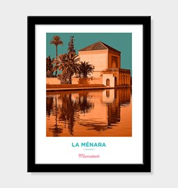 Poster Pop Art Vintage - Menara of Marrakech - 2