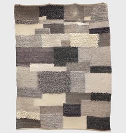 Tapis patchwork en laine Mokary