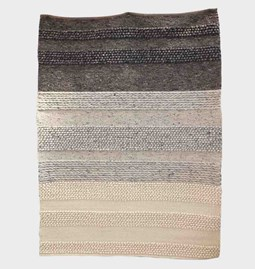 Tapis structure mixte en laine Mokary