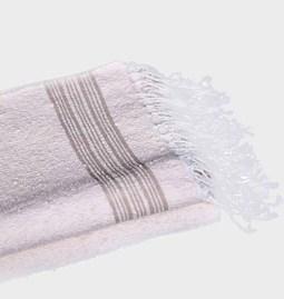 Serviette de bain rayée
