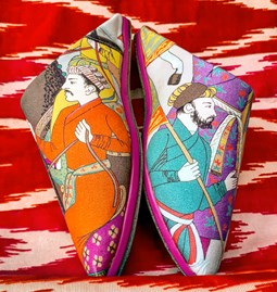 Moroccan Slippers Horseriders pattern   - Manuel Canovas