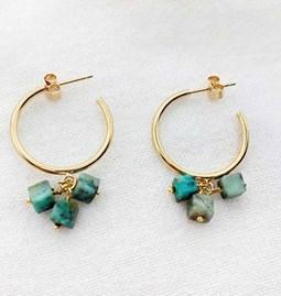 Earrings ALCEA green