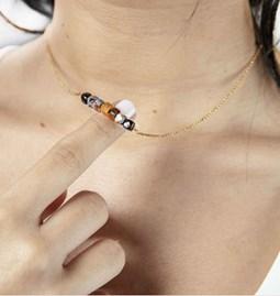 Alcea tourmaline and pietersite necklace