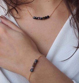 Collier ALCEA marron