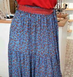 Jupe Isabelle bleue et rouge
