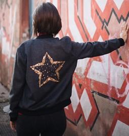 Isis bomber 1/2 star glitter