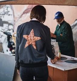 Bomber Isis étoile paillettes